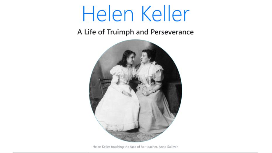 Helen Keller Tribute